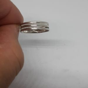 Dainty  Sterling Silver Triple Band Ring  size 6
